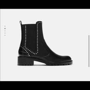 Zara studded Chelsea boot